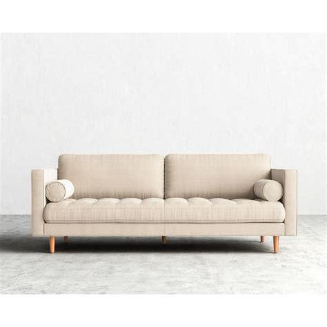 cream tufted sofa slim sofa contemporary sofa leather fabric 3 seater slim