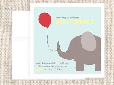 printable elephant birthday invitations elephant birthday party invitations elephant pinterest