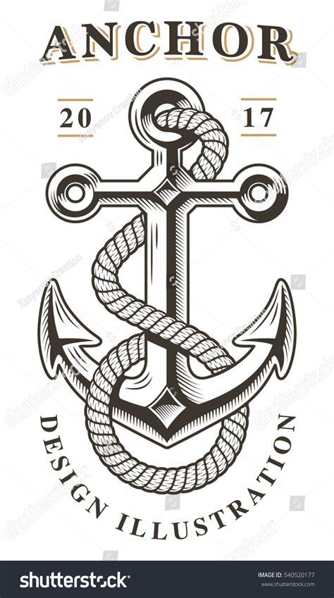 Classic Vintage Style Anchor vintage anchor emblem stock vector 540520177
