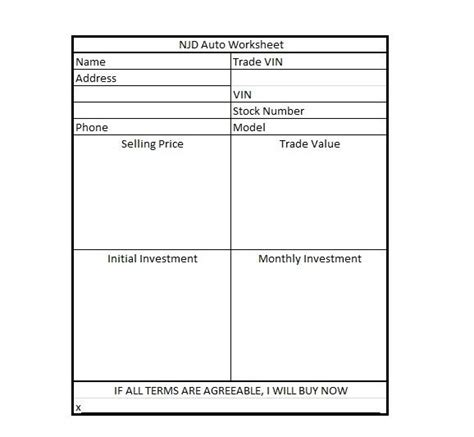 Used Car Worksheet by How To Negotiate The Quot Steps To The Sell Quot Infobarrel