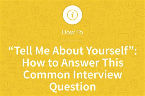 Tell Me About Your Resume Question Tell Me About Yourself How To Answer This Common Question Myperfectresume