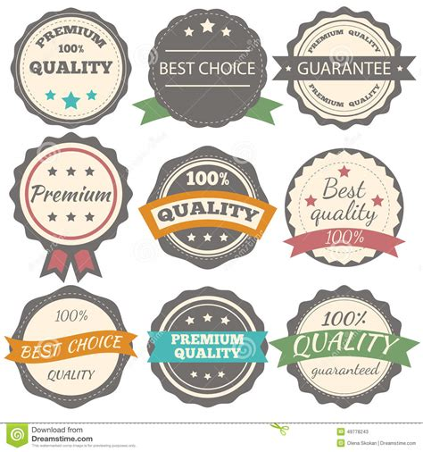 Best Quality Syari Vintage best choice guarantee and premium quality vector vintage badges stock vector image 49778243