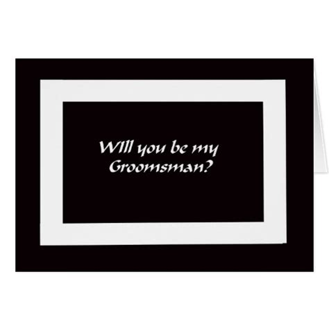 free groomsman card template will you be my groomsmen card zazzle