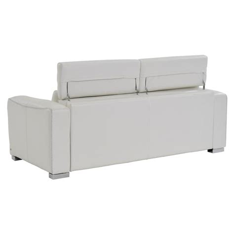 White Sofa Sleeper White Leather Sleeper Sofa Bay Harbor White Leather Sleeper El Dorado Furniture Thesofa