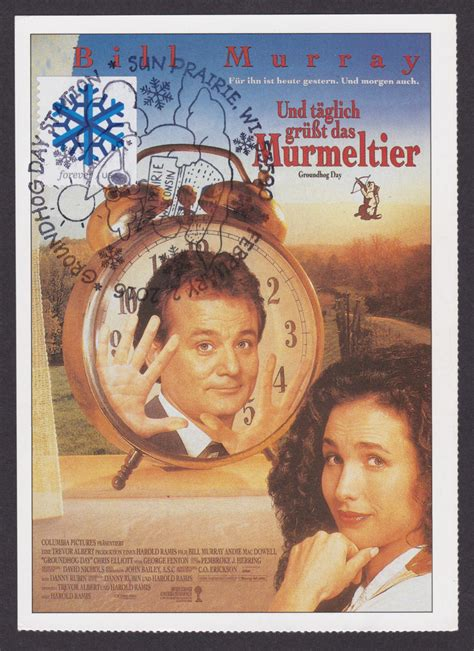 groundhog day soundtrack imdb quot groundhog day quot card postal collectpostmarks