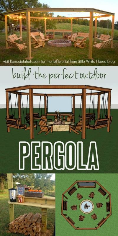 diy amazing pergola and pit with swings