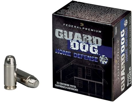 federal premium guard home defense ammo 9mm luger 105