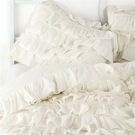 waterfall bedding white waterfall ruffle bedding set