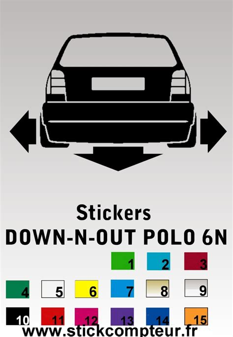 Sticker Vw German Look by Germanlook 176 176 176 176 Stickcompteur Fr