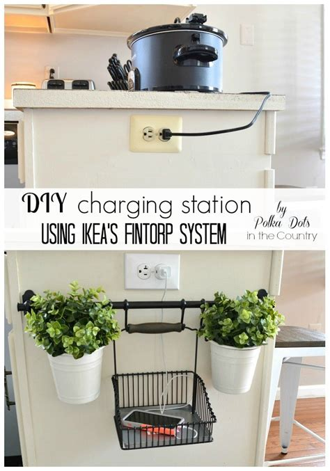 hometalk diy charging station using ikea s fintorp system