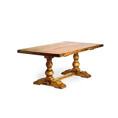 Pedestal Trestle Table Turned Pedestal Country Trestle Table Hyde Park Home