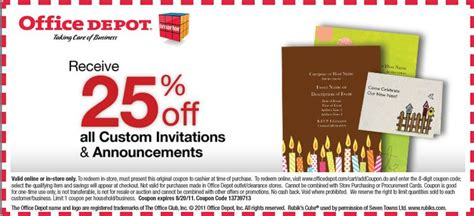 office depot coupons free shipping office depot printable coupon august 2011
