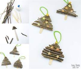 Handmade Home Decors popsicle stick and twigs christmas tree ornaments easy