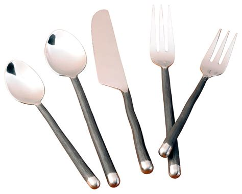 Meteor Dinnerware 5 Piece Set   Contemporary   Flatware