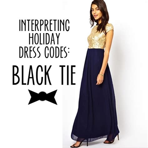 interpreting holiday party dress codes black tie babble