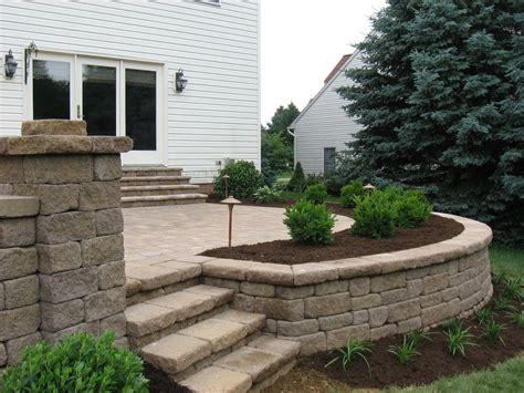 raised paver patio designs paver patios with lighting raised patio seat wall