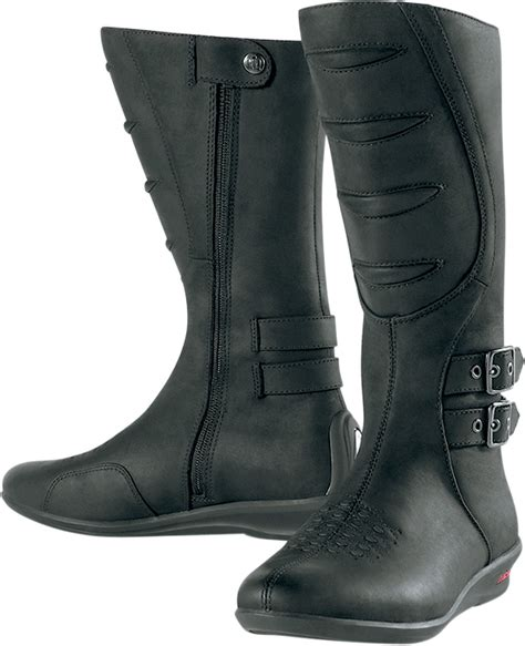 womens motorcycle boots icon women s sacred tall motorcycle boot black
