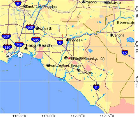 orange county usa map orange county california map