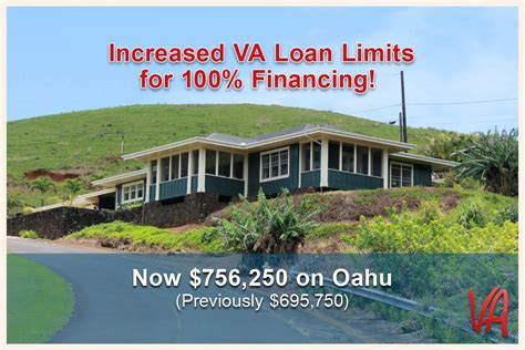 increased va loan limits on oahu hawaii va loans va
