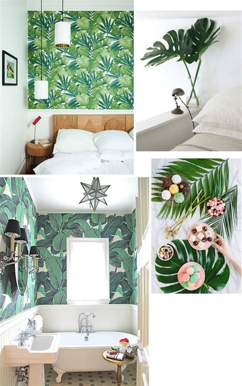 tropical decorations for home home decor ideas use tropical leaves