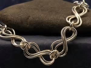 Handmade Sterling Silver Necklace - infinity sterling silver necklace handmade chain