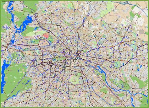 berlin on the world map berlin parking space map