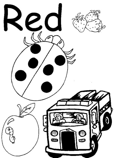 preschool coloring pages learning colors red coloring pages for preschool lesson red coloring