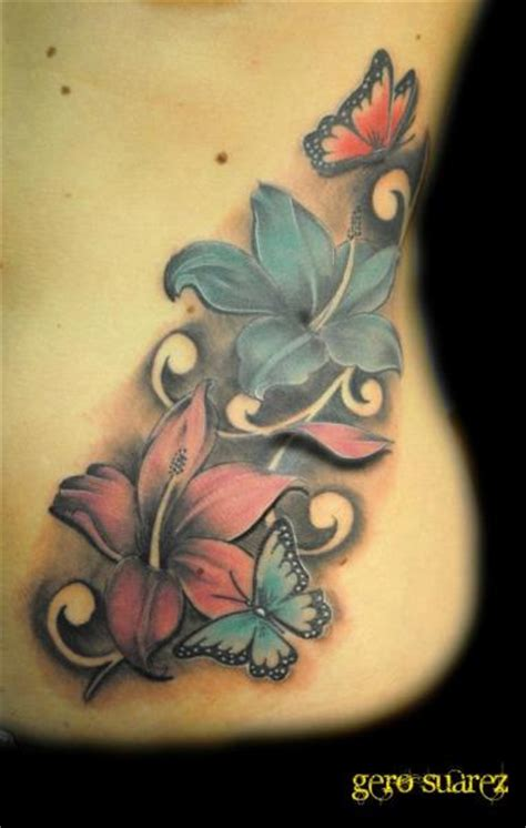 tattoo 3d flower flower side 3d tattoo by seven arts
