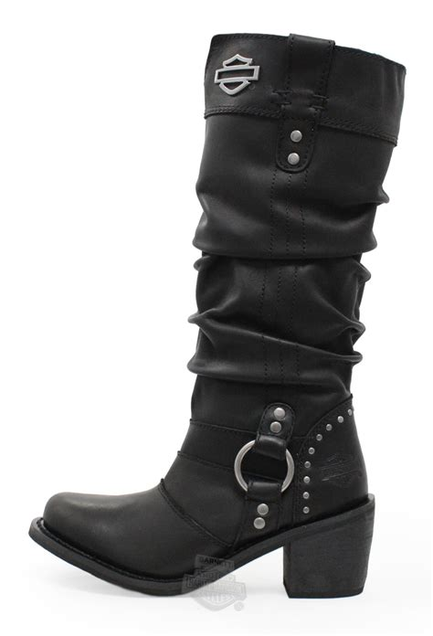 womans harley boots 83562 harley davidson 174 womens black leather high