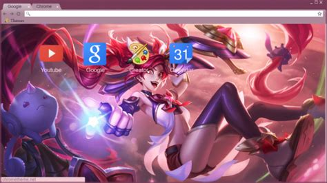 jinx theme for google chrome league of legends star guardian jinx chrome theme