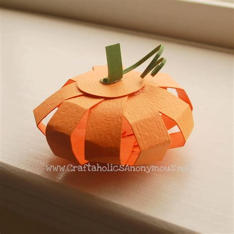 Pumpkin Papercraft - be different act normal paper pumpkin craft