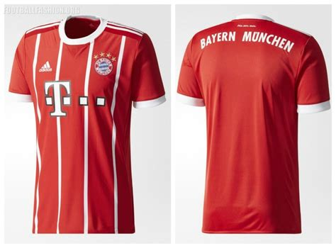 Jersey Bayern Munchen 20172018 Bayern Munich 2017 18 Adidas Home Kit Football Fashion Org