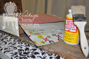 how to do decoupage how to decoupage drawer fronts vintage charm restored