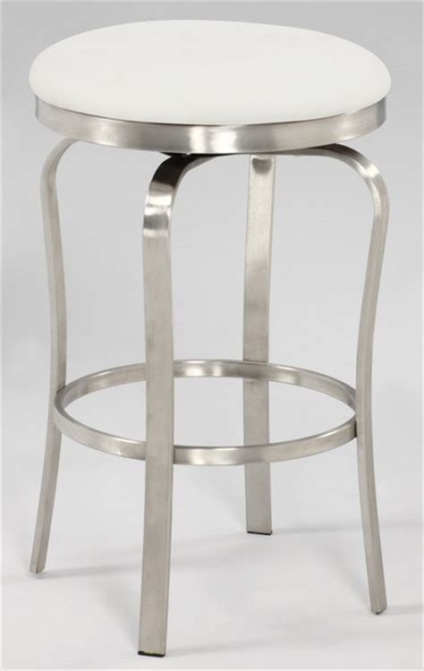 brushed stainless bar stools modern backless counter stool in brushed stainless steel