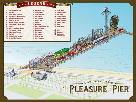 kemah houston map pier map pleasure pier galveston ride info travel