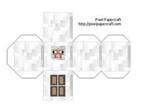 Minecraft Sheep Papercraft - random pins on paper dolls paper toys and