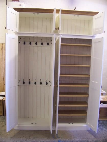 shoe and coat storage 4 door coat shoe storage cupboard with top