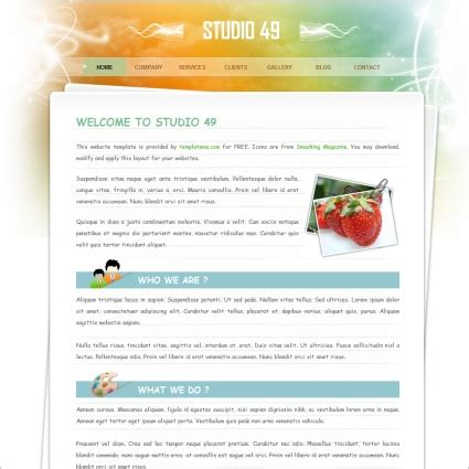 studio templates free studio free website templates in css html js format for