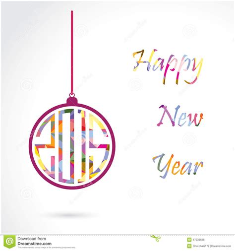 new year 2015 card vector happy new year 2015 creative greeting card design stock