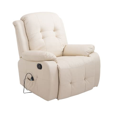 Vibrating Chair by Homcom Pu Leather Heated Vibrating Recliner Chair