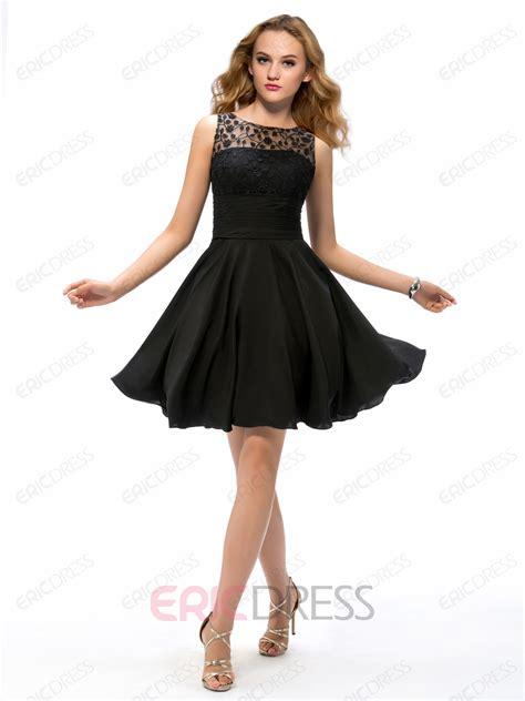 Cocktail Dress A Line charming a line lace cocktail dress black cocktail dresses ericdress