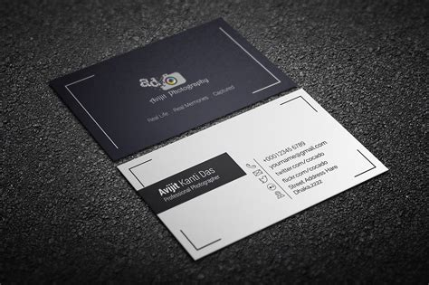 card templates for photographers free photography business card