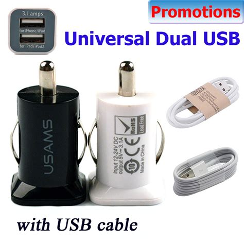 Car Charger Emy My 131 2 Port Usb Fast 3 4 With Usb Lightning Cabl 5v 3 1a usams micro auto universal dual 2 port usb car charger for iphone ipod 3 1a mini