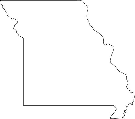 Missouri State Outline by Missouri Outline Map Coloring Pages Teaching