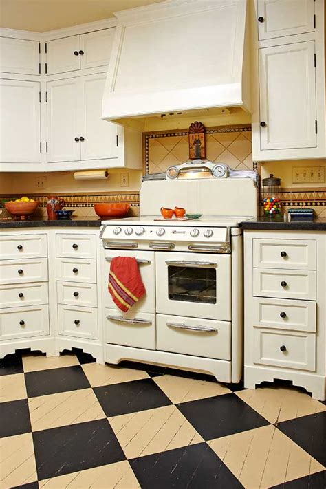 1930s kitchen floors photo gallery checkerboard kitchen floors old house online old house online