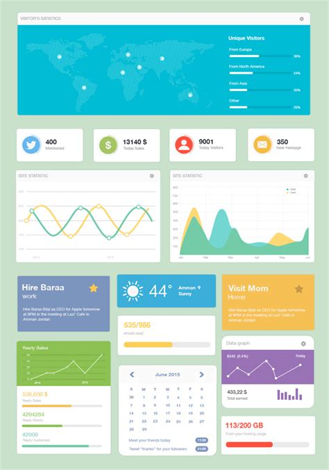 dashboard template design modern admin dashboard ui template free psd files