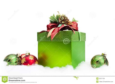 christmas gift box ornaments royalty free stock images