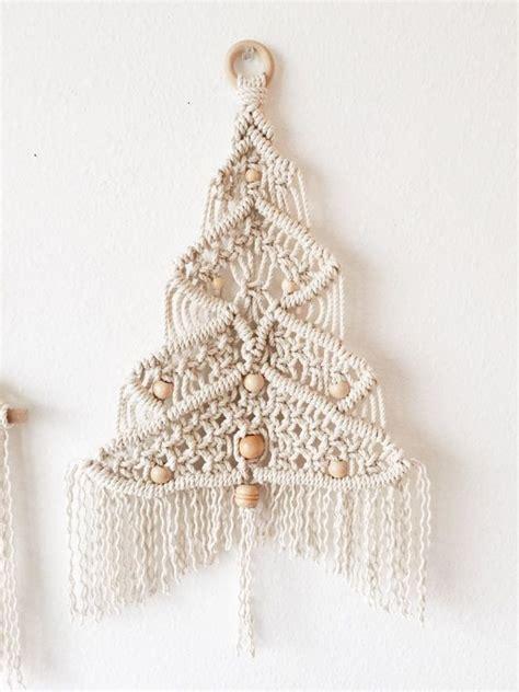 macrame christmas tree wall hanging pattern macrame christmas tree medium christmas tree etsy and