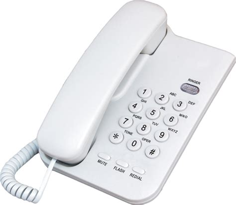 office basic analog corded wired clean room telephone
