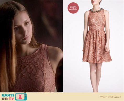wornontv s pink lace dress on the diaries